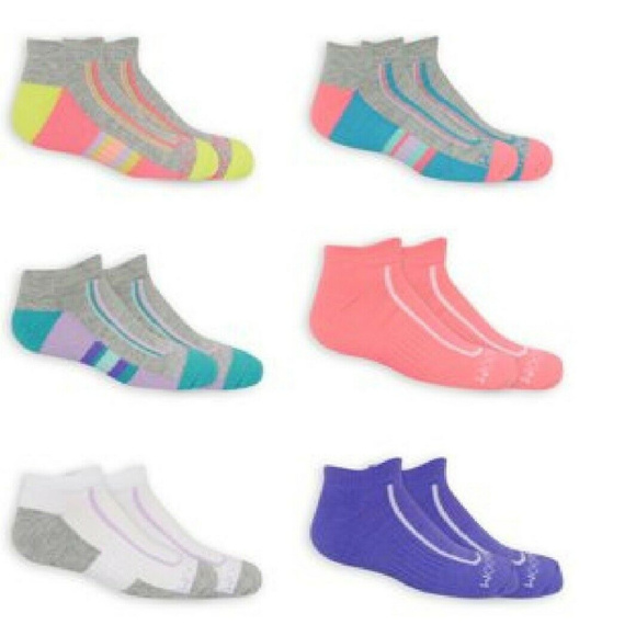 Fruit of the Loom girls Cushion No Show With Arch Support 6 Pack Sock